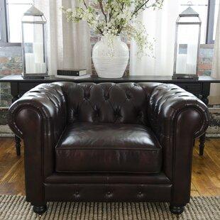 Darby Home Co Fiske Top Grain Leather Standard Armchair