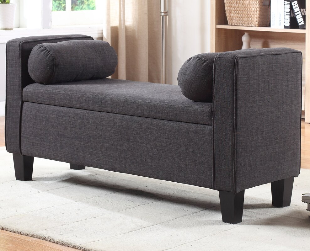 storage benches you'll love  wayfair - royce upholstered storage bedroom bench
