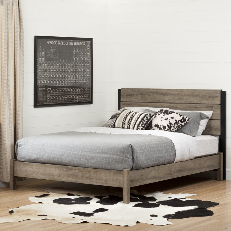 Queen Platform Bed Frames south shore munich queen platform bed & reviews | wayfair