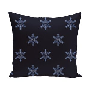 Flurries Decorative Holiday Print Throw Pillow