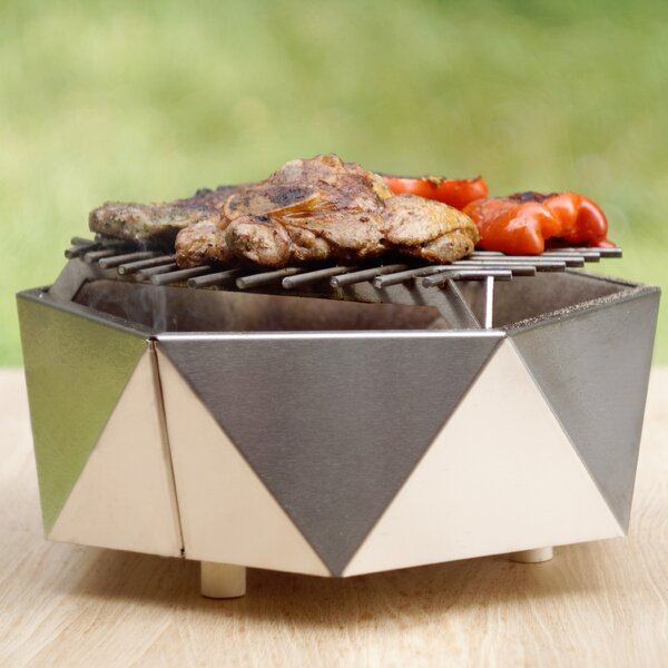 Curonian Stainless Steel Charcoal Tabletop Grill U0026 Reviews | Wayfair
