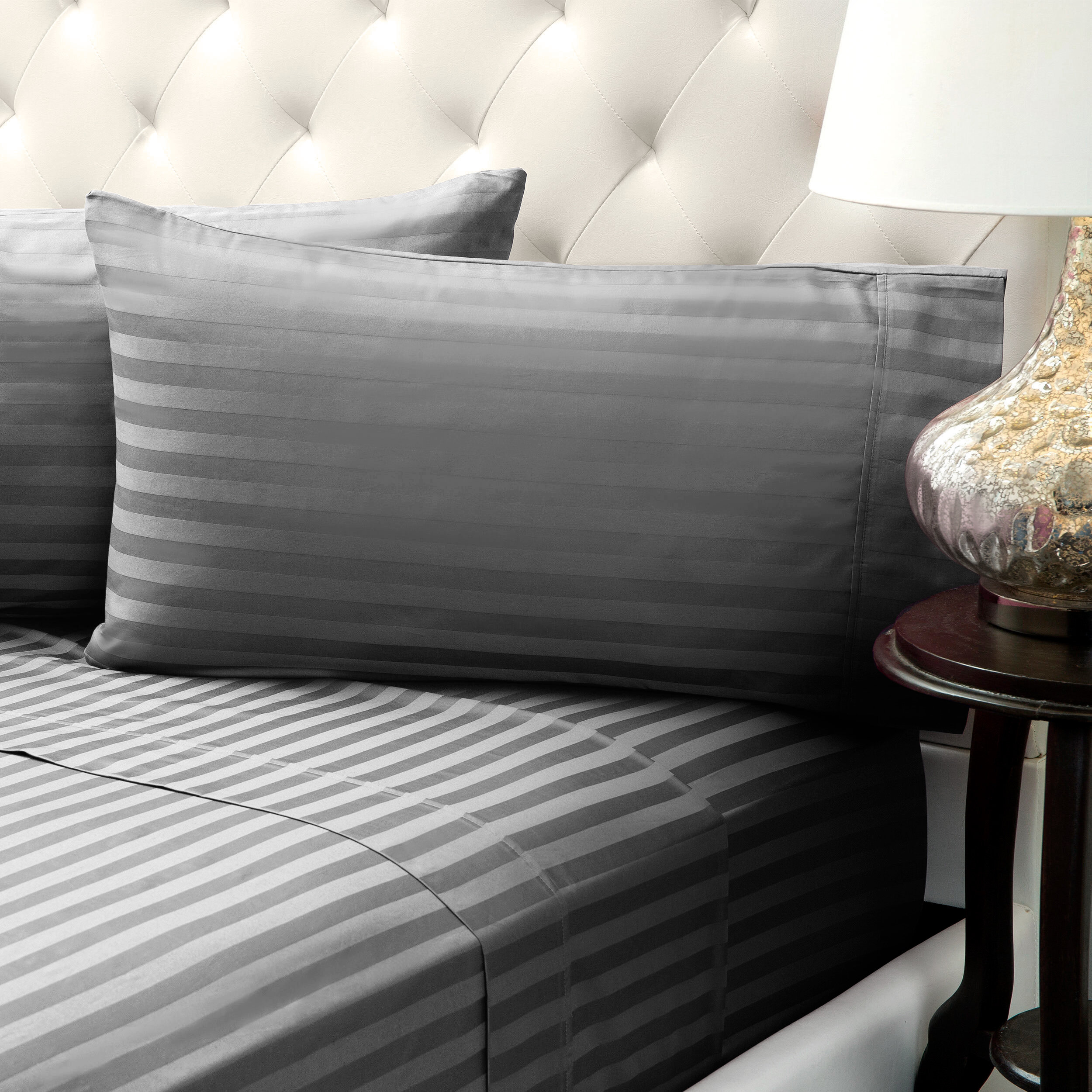 Incroyable Bedical Care Solid Stripe Wrinkle Free Bed 1200 Thread Count 4 Piece Sheet  Set U0026 Reviews | Wayfair