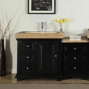 Custom Bathroom Vanity Tops Online right offset vanity all bathroom vanities | wayfair