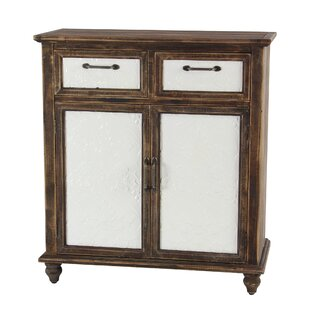Mcmullin Rustic Wood 2 Drawer Door Accent Cabinet by Charlton Home