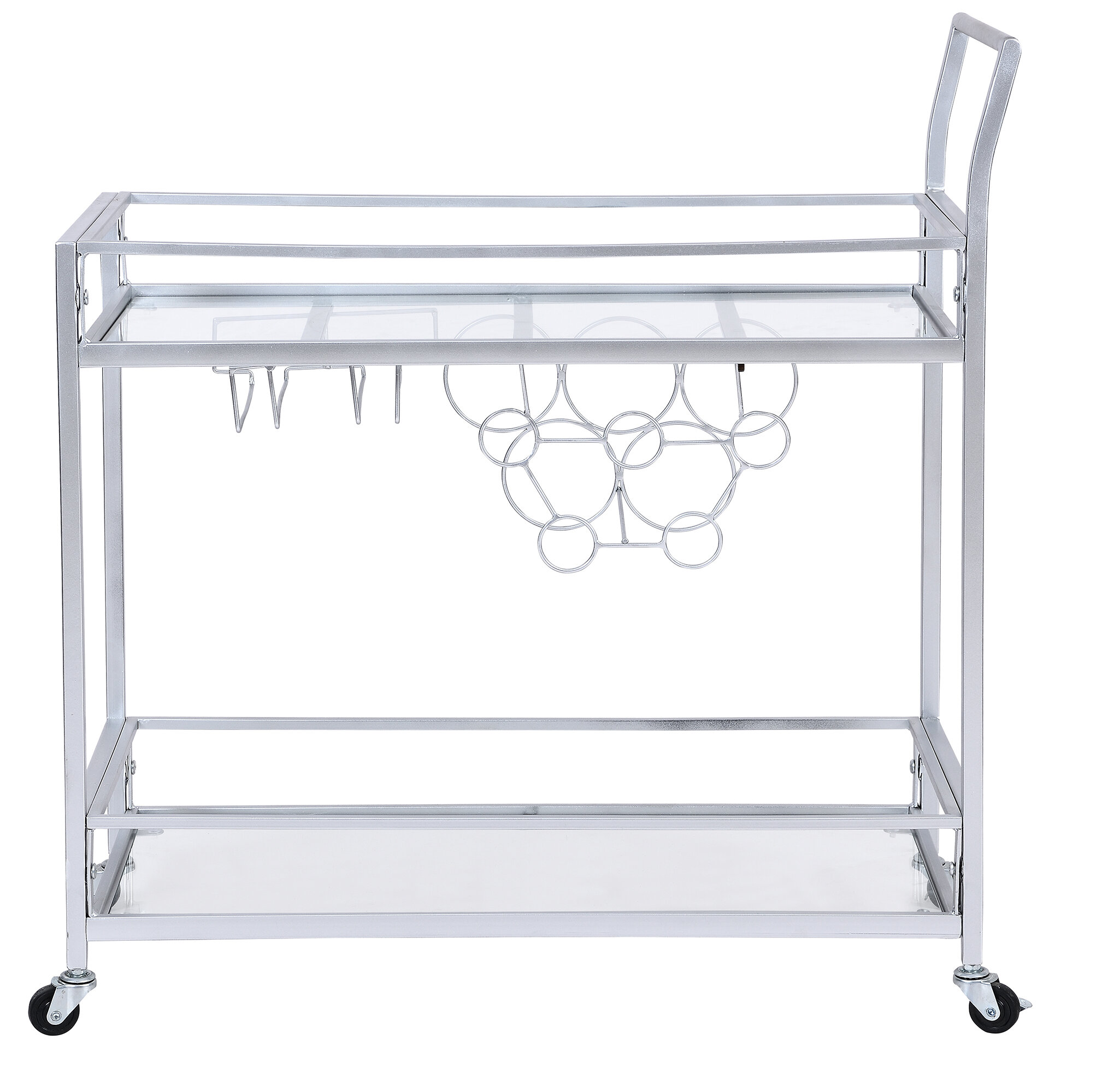 Silver Bar Carts Free Shipping Over 35 Wayfair