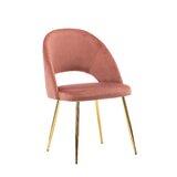 Emerico Velvet Upholstered Side Chair by Everly Quinn