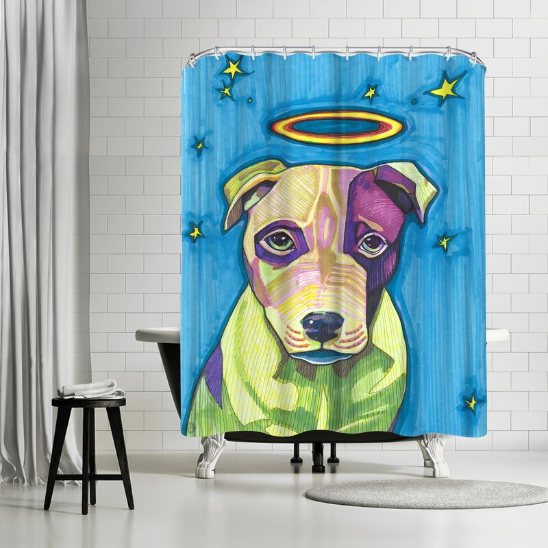 Solveig Studio Halo Dog Pete Shower Curtain
