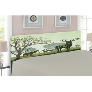 Antlers Upholstered Panel Headboard by East Urban Home