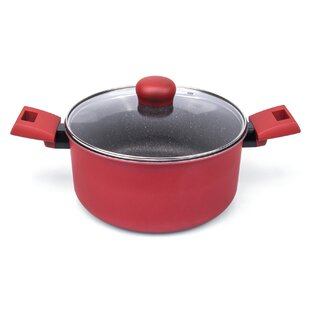 Germanos Non-Stick Dutch Oven with Glass Lid ByLatitude Run