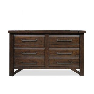 Union Rustic Bricelyn 6 Drawer Double Dresser