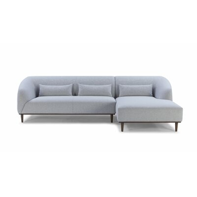 Modern Amp Contemporary Small Curved Sectional Sofa Allmodern