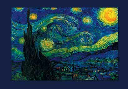 Winston Porter \'The Starry Night\' by Vincent Van Gogh Graphic Art ...