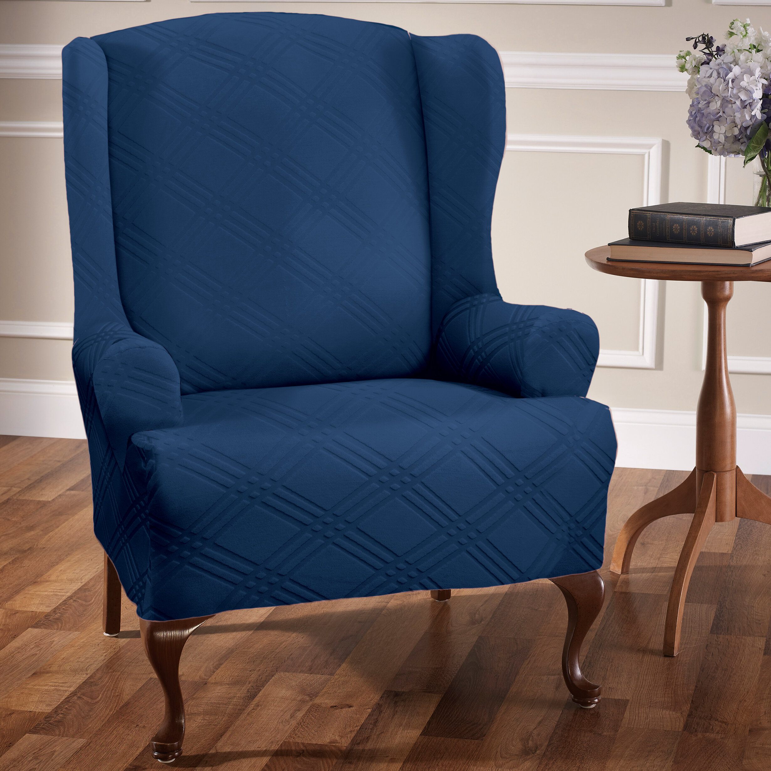 Picture of: Red Barrel Studio Sensations T Cushion Wingback Slipcover Reviews Wayfair