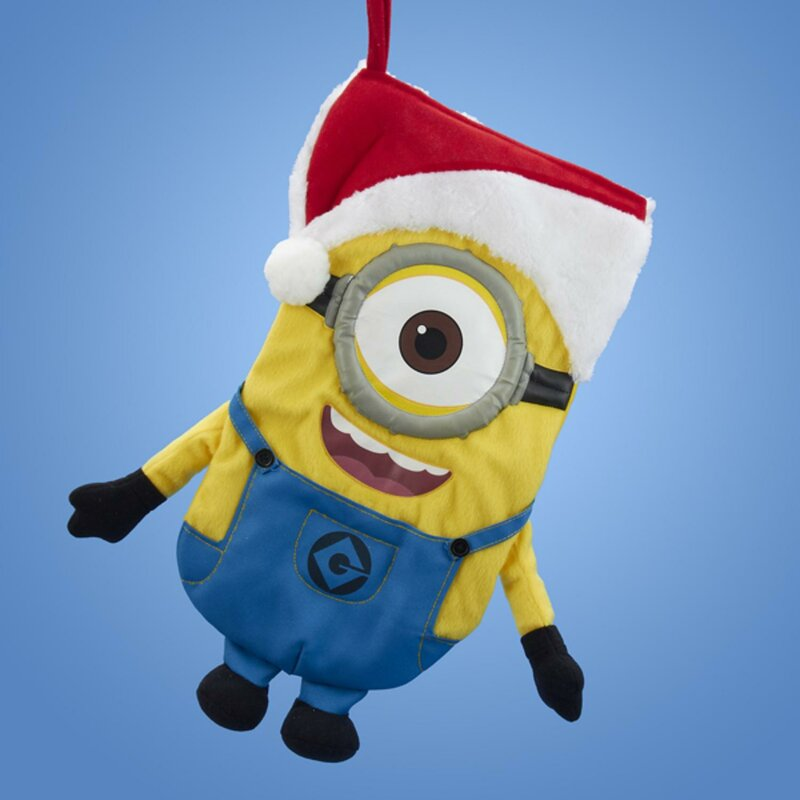 despicable minion wearing a santa hat christmas stocking - Minion Christmas Stocking