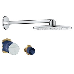 Grohe SmartActive Rain Shower Head with SpeedClean Nozzles