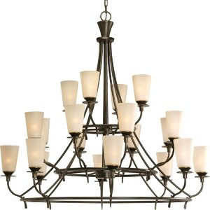 Risha Traditional 20-Light Shaded Chandelier