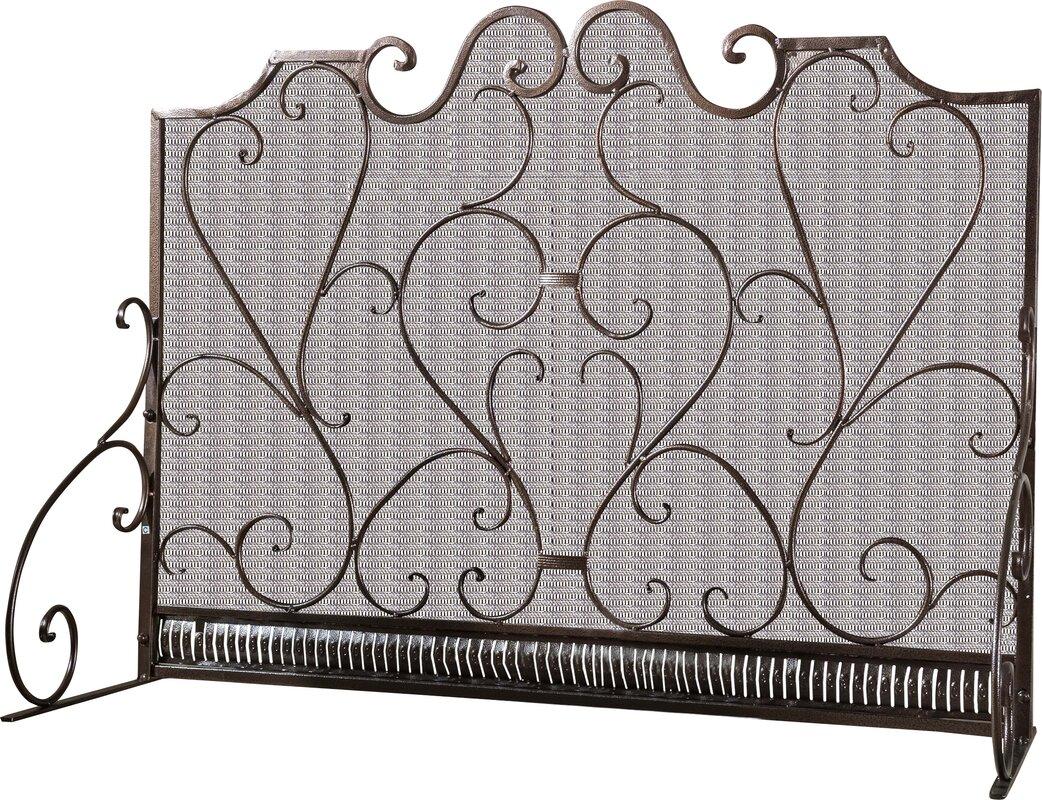 screen improvement spi cast reviews pdx wayfair panel iron home fireplace pinecone