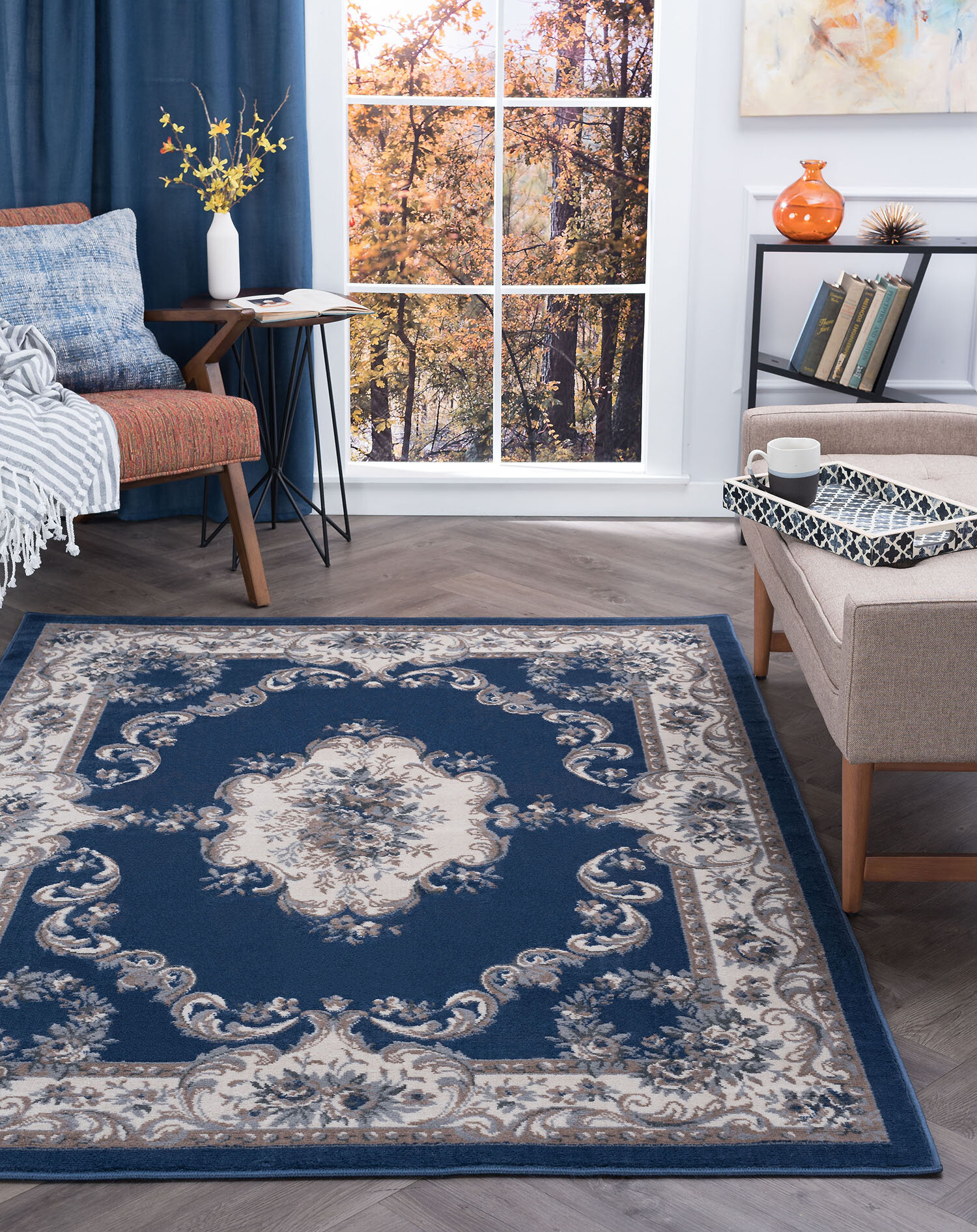 3 X 5 Navy Area Rugs You Ll Love In 2021 Wayfair