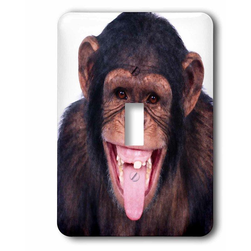 3drose Laughing Monkey Single Toggle Light Switch Wayfair