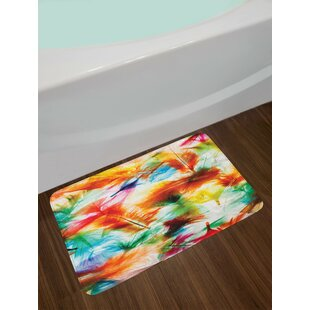 Multicolor Colorful Bath Rug by East Urban Home New Design