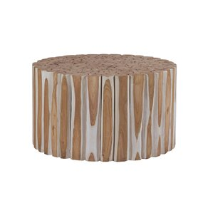 Round Teak End Table by Ibolili