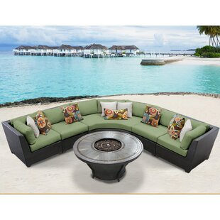 Barbados 6 Piece Sectional Seating Group with Cushions