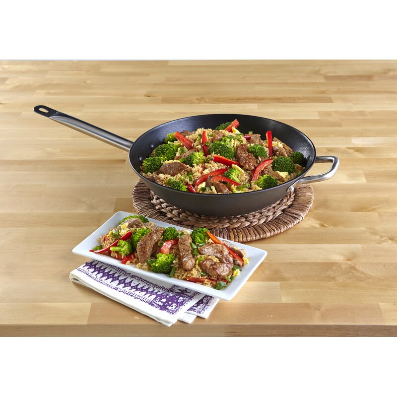 "imusa 14"" cast iron wok  reviews  wayfair"