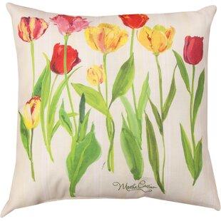 Tulips Knife Edge Throw Pillow