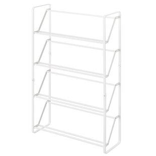 High-End Frame Slim 4 Tier 8 Pair Shoe Rack By Yamazaki Home