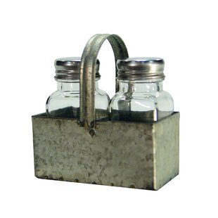 Wieland Farmhouse Galvanized Salt and Pepper Set