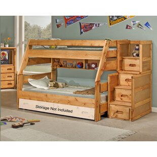 Milda Twin Over Full Bunk Bed With Stairway Chest by Harriet Bee 2019 Coupon