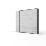 Invento Vertical Wall Bed, European Queen Size With 2 Cabinets by MaximaHouse