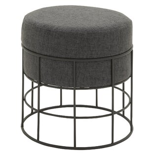 Cole & Grey Ottoman with Cushion