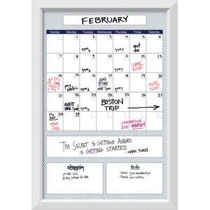 Blue Quatrefoil Big Calendar Dry Erase Board