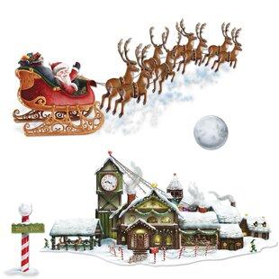 Santa Sleigh Flying Wayfair