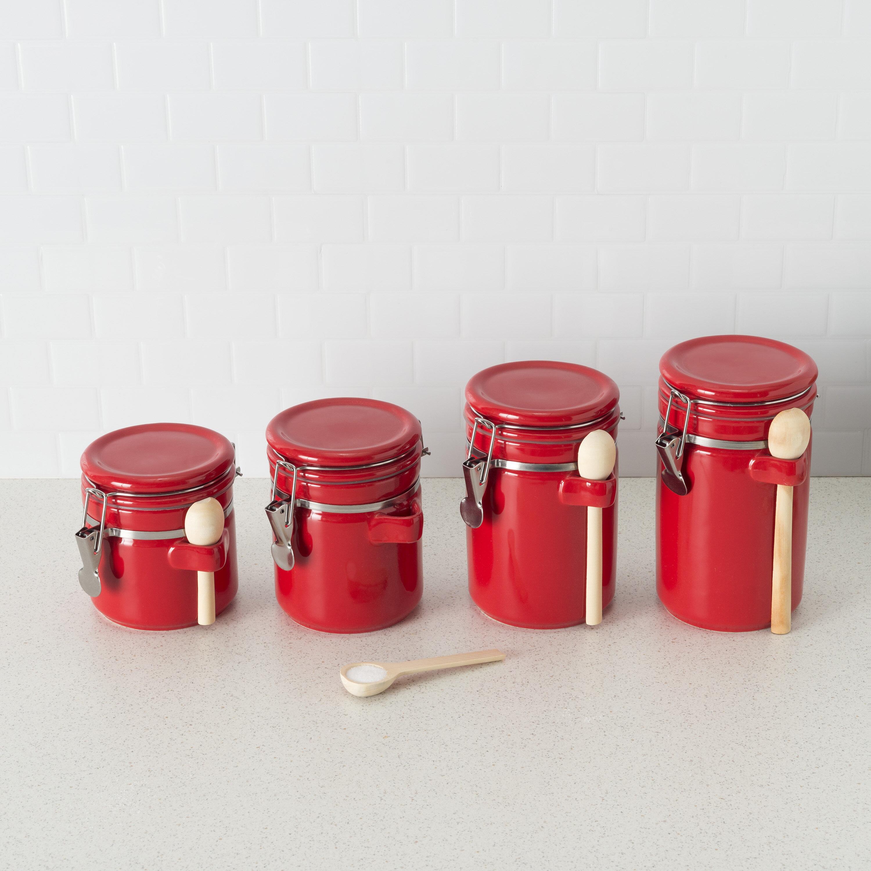 4 Piece Ceramic Kitchen Canister Set Reviews Joss Main