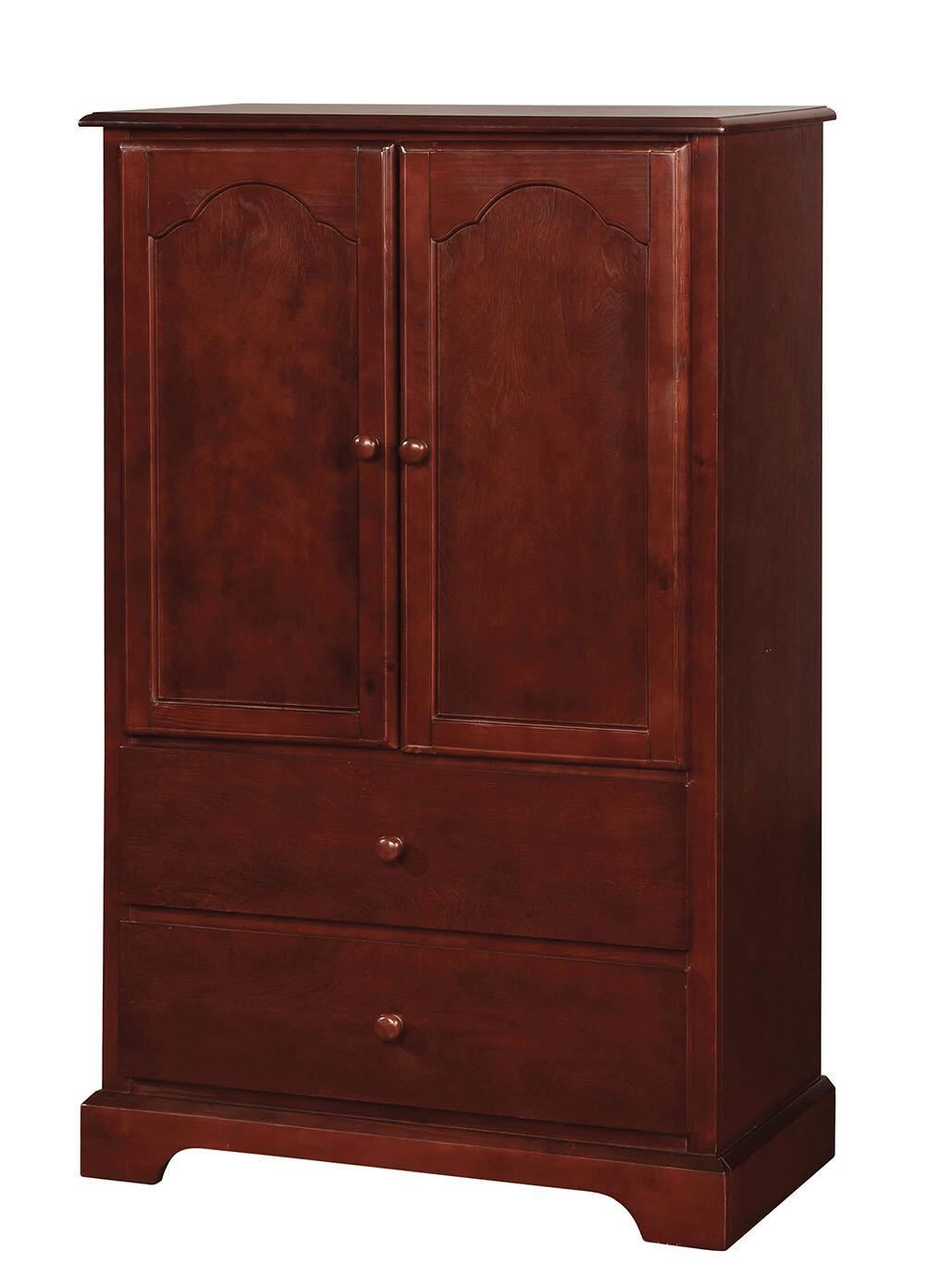Red barrel studio harsh wooden armoire wayfair