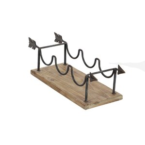 Wood/Metal 3 Tabletop Wine Bottle Rack by Cole & Grey