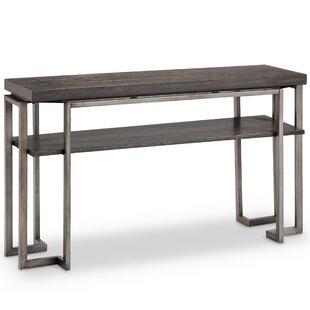 Modern white console table Drawer Anvi Modern Console Table Wayfair Small Modern Console Table Wayfair