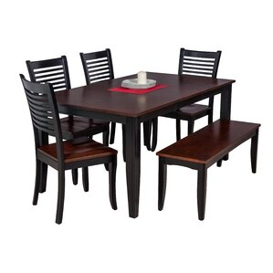 Haan Modern 6 Piece Wood Dining Set by Re..