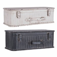 Suitcase 2 Piece Accent Shelf Set by Foreside Home & Garden