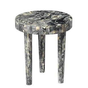 Hopkinton Small Side Table in Black Resin..