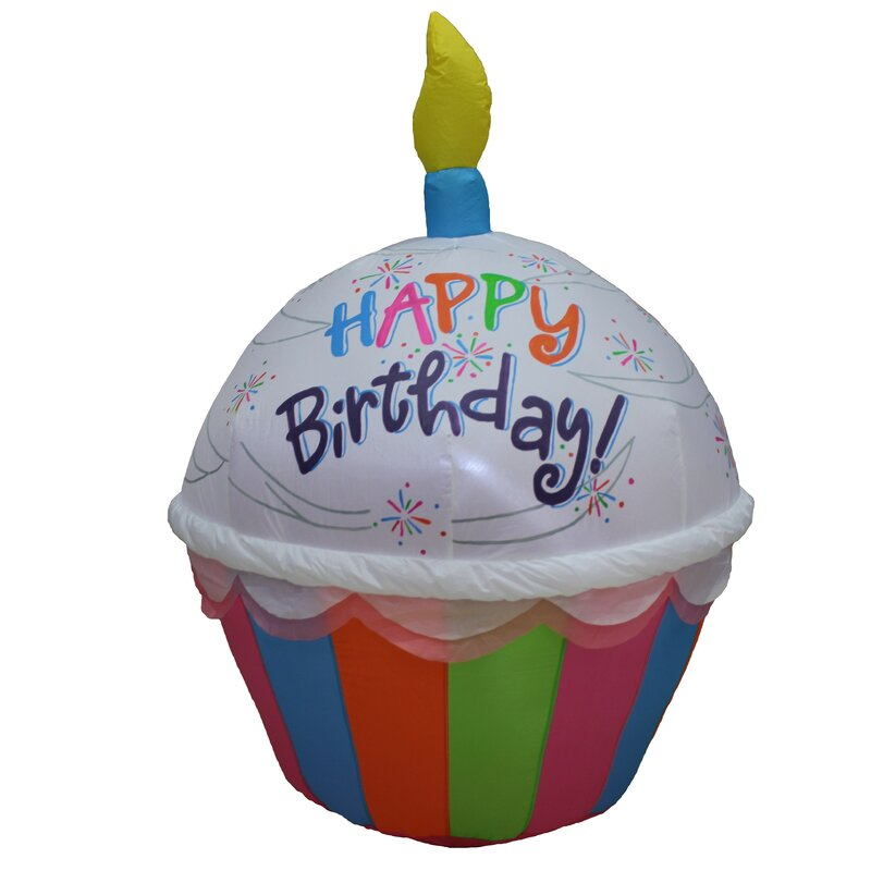 Groovy The Party Aisle Tall Cute Happy Birthday Cupcake With Candle Funny Birthday Cards Online Unhofree Goldxyz