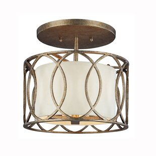 Brayden Studio Balducci Semi Flush Mount in Silver Gold