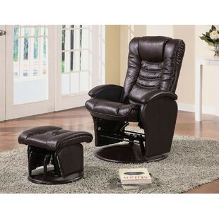 Crown Swivel Glider and Ottoman by Red Barrel Studio