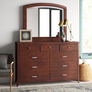 Mistana Travis 9 Drawer Dresser with Mirror