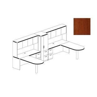 Mayline Group Aberdeen Series 8-Piece U-Shape Desk Office Suite