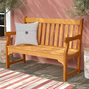 Cadsden Hardwood Garden Bench by Three Posts