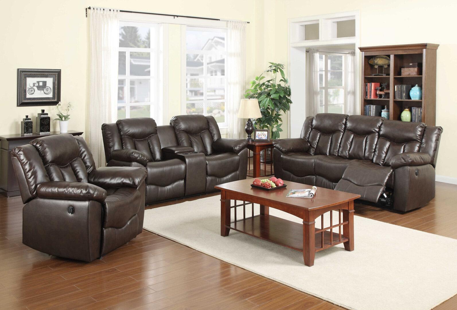 NathanielHome James 3 Piece Living Room Set | Wayfair