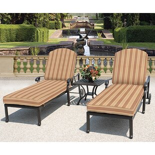 Laneon 3 Piece Sunbrella Seating Group with Cushions